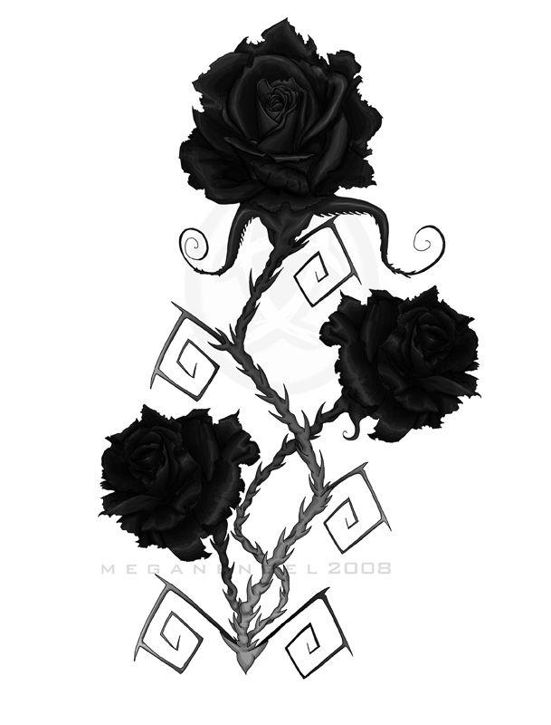 Rose noir gothique - Dessin gothique ...