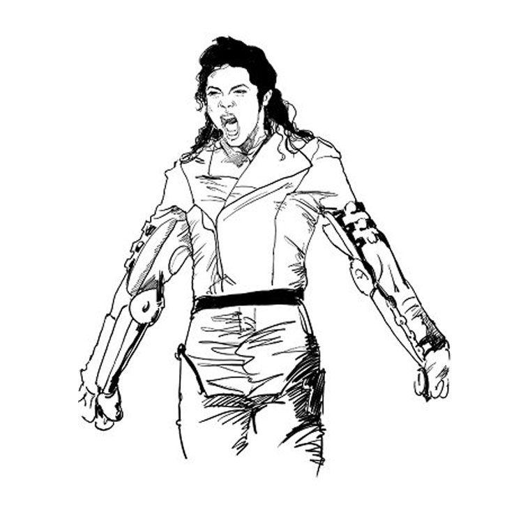 - Michael jackson coloriage ...